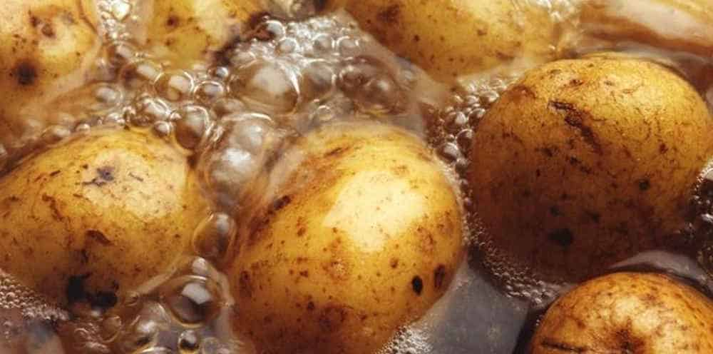 potatoes boiling water